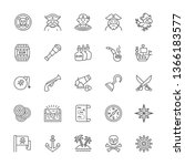 set of pirates line icons.... | Shutterstock .eps vector #1366183577
