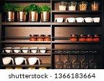 kitchen interior stand with...   Shutterstock . vector #1366183664