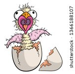 cartoon illustration of an ugly ... | Shutterstock .eps vector #1366188107