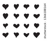 heart icons set isolated on... | Shutterstock .eps vector #1366188164