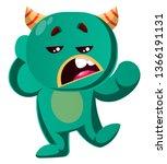 green monster is not interested ... | Shutterstock .eps vector #1366191131