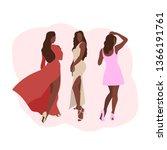 african american girls. three...   Shutterstock .eps vector #1366191761