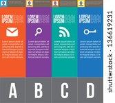 four steps for infographics... | Shutterstock .eps vector #136619231