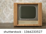 old television on a dirty... | Shutterstock . vector #1366233527