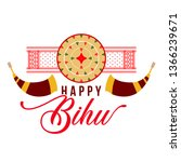 happy bihu festival logo  icon  ...   Shutterstock .eps vector #1366239671