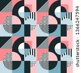 geometric colorful background.... | Shutterstock .eps vector #1366247594