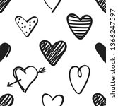 seamless pattern with black... | Shutterstock .eps vector #1366247597