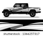 car decal wrap design template...   Shutterstock .eps vector #1366257317