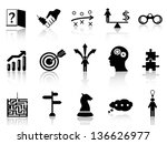 business strategy icons set | Shutterstock .eps vector #136626977