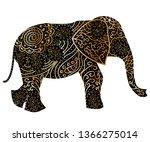 stylized fantasy patterned...   Shutterstock .eps vector #1366275014