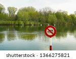 No Swimming Allowed Sign....
