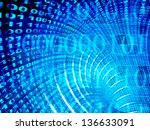 internet   3d abstract blue... | Shutterstock . vector #136633091
