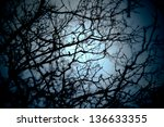 halloween background.  | Shutterstock . vector #136633355