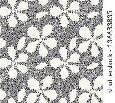 vector seamless pattern. modern ... | Shutterstock .eps vector #136633835