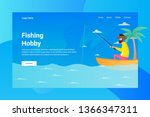 web page header fishing hobby... | Shutterstock .eps vector #1366347311