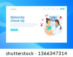 web page header maternity check ... | Shutterstock .eps vector #1366347314