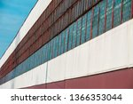 large old long industrial... | Shutterstock . vector #1366353044
