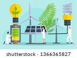 vector illustration of solar...   Shutterstock .eps vector #1366365827