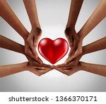 philanthropy and philanthropic... | Shutterstock . vector #1366370171