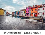 colorful houses on the street... | Shutterstock . vector #1366378034