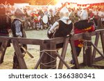 medieval knight before fight | Shutterstock . vector #1366380341