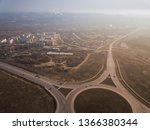 aerial of highway city... | Shutterstock . vector #1366380344