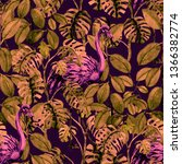 tropical seamless pattern with... | Shutterstock . vector #1366382774