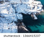 aerial view of winter blue... | Shutterstock . vector #1366415237