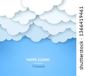paper cut cloudscape with text... | Shutterstock .eps vector #1366419461