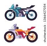 scooters motorized modern...   Shutterstock . vector #1366427054