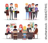 young businessmans on... | Shutterstock . vector #1366427441