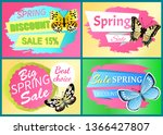 spring sale labels set... | Shutterstock . vector #1366427807