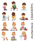 male and female collection... | Shutterstock . vector #1366430591