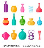 different modern ceramic vases... | Shutterstock .eps vector #1366448711