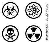 dangerous and hazardous signs | Shutterstock .eps vector #1366449197