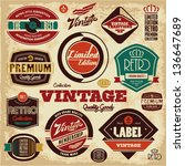 vintage labels collection.... | Shutterstock .eps vector #136647689