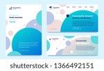 vector set of business template ... | Shutterstock .eps vector #1366492151