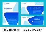 vector set of business template ... | Shutterstock .eps vector #1366492157