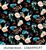 seamless pattern with detailed... | Shutterstock .eps vector #1366494197