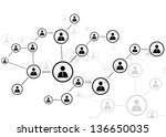 human connection | Shutterstock .eps vector #136650035