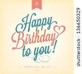 Vintage Happy Birthday...