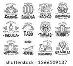 mexican cuisine restaurant or... | Shutterstock .eps vector #1366509137