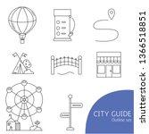 city guide icon set. outline... | Shutterstock .eps vector #1366518851