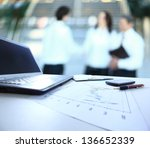 graphs  charts  business table. ... | Shutterstock . vector #136652339