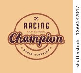 racing champion emblem for t... | Shutterstock .eps vector #1366542047