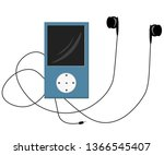 blue vector mp3 player... | Shutterstock .eps vector #1366545407