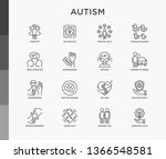 autism symptoms and adaptive... | Shutterstock .eps vector #1366548581