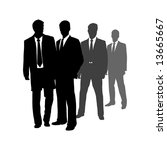 men in suits | Shutterstock . vector #13665667
