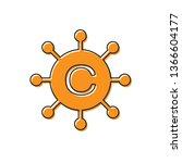 orange copywriting network icon ... | Shutterstock .eps vector #1366604177