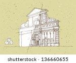 sketching historical... | Shutterstock . vector #136660655